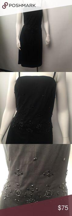 Luisa Spagnoli black beaded dress size 8 Vintage and very nice black beaded dress Sz8 luisa spagnoli Dresses Midi