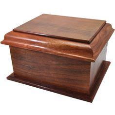 Stately Wood Large Urn