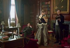Vogue pictorial - Henry James,Edith Wharton, and Morton Fullerton as they circled each other. Shot on location at Wharton's home, the Mount, Lenox, Massachusetts
