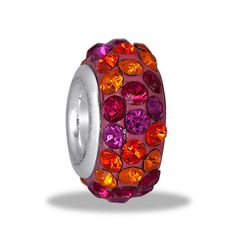 DaVinci Bead Fuchsia 3 Row Crystal Jewelry