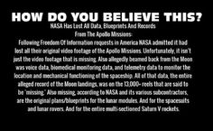 """Yea """"lost"""" because we've had ass-to-nauts further than the moon for sometime now."""