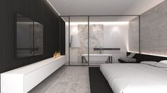 Sypialnia styl Minimalistyczny - zdjęcie od A2 STUDIO pracownia architektury