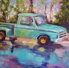 """""""rainy day truck"""" - by Dottie Leatherwood"""