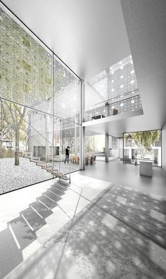 Eden by Tim Muennich Architecture Collage, Architecture Visualization, Architecture Student, Space Architecture, Beautiful Architecture, Arch Interior, Interior Rendering, Atrium, Planer