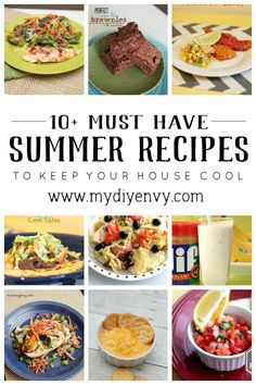 10+ must have summer recipes your family will love. Keep your house cool by grilling more. | www.mydiyenvy.com