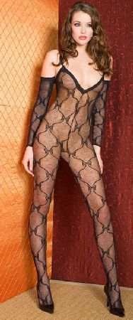 Music Legs 1271 Bodystocking Seductive body-stocking in bow lace with thin shoulder straps, V-neckline with lurex trimming, convenience crotch and attached long sleeves with matching lurex trim on hems. Available in different col http://www.MightGet.com/january-2017-12/music-legs-1271-bodystocking.asp