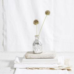 Mercury Bud Vase | The White Company. Shopping from the US? -> http://us.thewhitecompany.com/Home-%26-Bath/Vases/Mercury-Bud-Vase/p/VAHVM?swatch=Silver