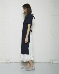 Comme des Garçons Apron Dress / Long Silk Slip Dress. I always say to myself, I wish I looked like a maid.
