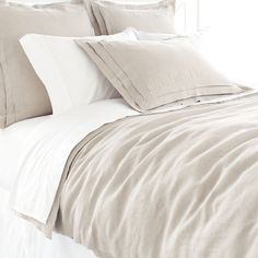 pine cone hill inc pleated linen natural duvet cover king plndck