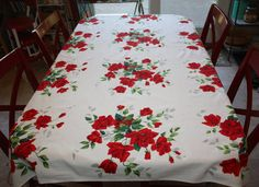 Gorgeous Rose-Filled Large Vintage Printed Cotton by FelicesFinds