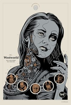 "kogaionon: ""Westworld by Ollie Boyd / Behance / DeviantArt / Twitter / Tumblr / Store The poster is based on The Bride of Frankenstein by Martin Ansin. """