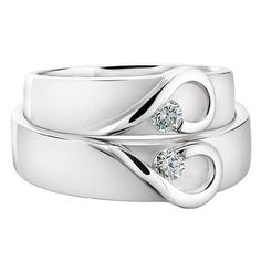 White gold wed ring ♥