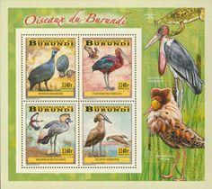 BUR 14101 cWading birds Stamps, Birds, Animals, Seals, Animales, Animaux, Bird, Postage Stamps, Animal