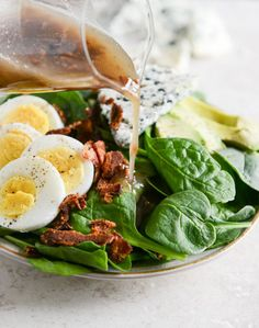 Killer Spinach Salads with Hot Bacon Dressing