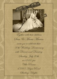 Wedding Anniversary Invitation Ideas Best Of 76 Best Images About Anniversary Scrapbook Ideas On 50th Wedding Anniversary Invitations, Wedding Anniversary Celebration, Golden Wedding Anniversary, Anniversary Scrapbook, Silver Anniversary, Mom Dad Anniversary, Anniversary Ideas, Anniversary Cards, 50th Party