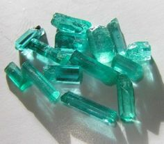 3.86 ctw 14 TINY Natural Untreated Colombian Emeralds Facet-Rough Gem Quality