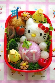 Hello Kitty Bento Box ... i WISH i could do something like this. hah.. that is soo awesome!