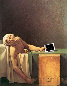 """The Death Of Marat"" by Jacques-Louis David with ipad Famous Paintings Updated"