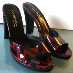 Via Spiga Made in Italy Andie Blackruby Shoes 7.5M by EurotrashItaly on Etsy