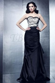 Gorgeous Strapless Mermaid Floor-Length Brush-Train Taline's Evening Dress $152.09