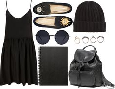 """black is the new black"" by youremydeadlypoison ❤ liked on Polyvore"