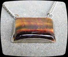 """Large ju 1"""" wide Tiger Eye Drop Vintage Tie Bar - Classic * Free US Shipping * by TheDappledDog on Etsy"""