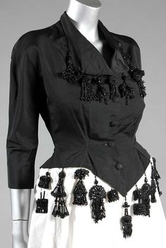 Balenciaga couture black faille 'Spanish' jacket, 1940's | Kerry Taylor Auctions
