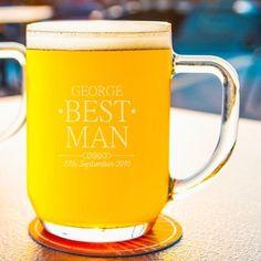 Best Man Glass Tankard