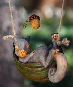 Squirrel Daydreamer Figurine