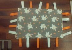 Taggie blanket - Minky and Flannelette, white and orange rabbits by CloudyCuddles on Etsy Rabbits, Blanket, Orange, Children, Unique Jewelry, Handmade Gifts, Baby, Vintage, Young Children