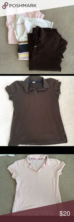 Bundle of JCrew Polo Shirts -3 shirts Awesome, worn in look and comfortable fit. Previously loved but in good condition. J. Crew Tops Tees - Short Sleeve