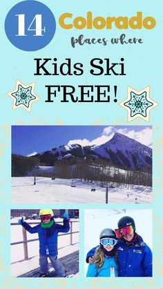 14 Places Kids Ski Free in Colorado Thinking of a ski trip with your kids? Check out 14 places where kids ski FREE in Colorado Rocky Mountains! The beautiful snow is building on the slopes - plan your fun vacation now. Colorado Winter, Visit Colorado, Skiing Colorado, Colorado Trip, Travel With Kids, Family Travel, Family Ski, Kids Crafts, Ski Packages