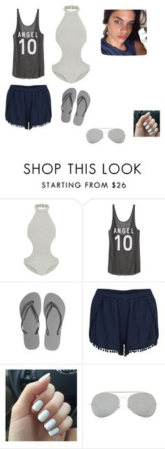 """Raven's Swimwear"" by amylennon ❤ liked on Polyvore featuring Zimmermann, Victoria's Secret, Havaianas, VILA, Acne Studios, women's clothing, women's fashion, women, female and woman"