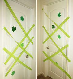 Tricky Little Leprechaun – 10 Leprechaun Tricks For St. Patty's Day: Leprechaun Door Barricade