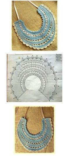 Babero crochet ganchillo patron