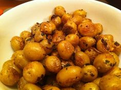 roasted pee wee potatoes tender little earthy nuggets of potatoey ...