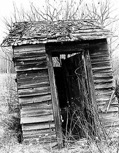 Bathroom Outhouse (When I have my dream house, I want to take pictures of old outhouses to put in my bathroom.)