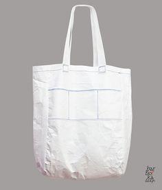 Umhängetaschen - White tyvek bag XXL - ein Designerstück von Barborka-Design bei DaWanda