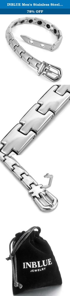 INBLUE Men's Stainless Steel Bracelet Link Wrist Hematite Silver Tone Belt Buckle Magnetic. INBLUE - High quality Jewelry Discover the INBLUE Collection of jewelry. The selection of high-quality jewelry featured in the INBLUE Collection offers Great values at affordable Price, they mainly made of high quality Stainless Steel, Tungsten, Silver and Leather. Find a special gift for a loved one or a beautiful piece that complements your personal style with jewelry from the INBLUE Collection. .