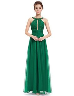 Ever Pretty Womens Sleeveless Long Military Ball Dress 14 US Emerald Green *** Click image for more details.