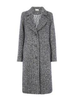 Herringbone Wool Coat - Women's Coats | Brora
