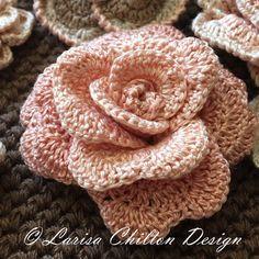 Ombre Rose. Peach color. Crochet. Thread - DMC Pearl Cotton #12.