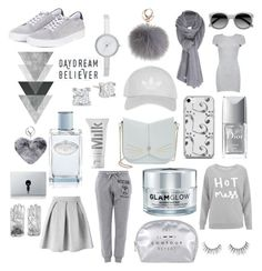 """Grey"" by scootpollock ❤ liked on Polyvore featuring Care By Me, Topshop, Ace, Ted Baker, Boohoo, GlamGlow, Christian Dior, Barbour, DKNY and MILK MAKEUP"