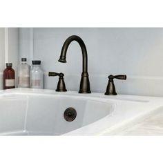 MOEN Banbury 2-Handle Deck-Mount Roman Tub Faucet in Mediterranean Bronze-86924BRB at The Home Depot
