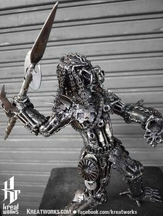 Hey, I found this really awesome Etsy listing at https://www.etsy.com/listing/97999931/metal-sculpture-metal-spearman-hunter