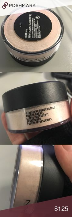 MAC Silver Dusk loose highlight/shimmer NEW HTF DC Never opened, not even to swatch. Price reflects recent completed eBay listings. Loose shimmer powder, easily MAC's best highlighter. Not too glittery, just the perfect slight champagne-y pinky silvery sheen. Selling my backup. No box MAC Cosmetics Makeup
