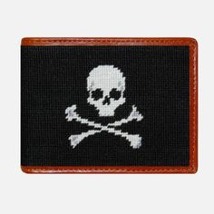 Smathers & Branson Jolly Roger Needlepoint Bifold Wallet