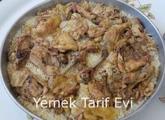 Fırında Tavuklu Pilav Tarifi Kalabalık sofralar için doyurucu lezzet... #chicken #rice #pilaff #pilav #oven #firindapilav #tavuk #pilav #recipe #yemektarifevi
