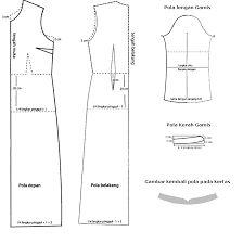 Hasil gambar untuk pola gamis payung
