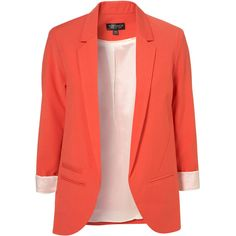 Tangerine Boyfriend Blazer (175 AUD) ❤ liked on Polyvore featuring outerwear, jackets, blazers, tops, red blazer jacket, red jacket, red boyfriend jacket, boyfriend blazer and red boyfriend blazer